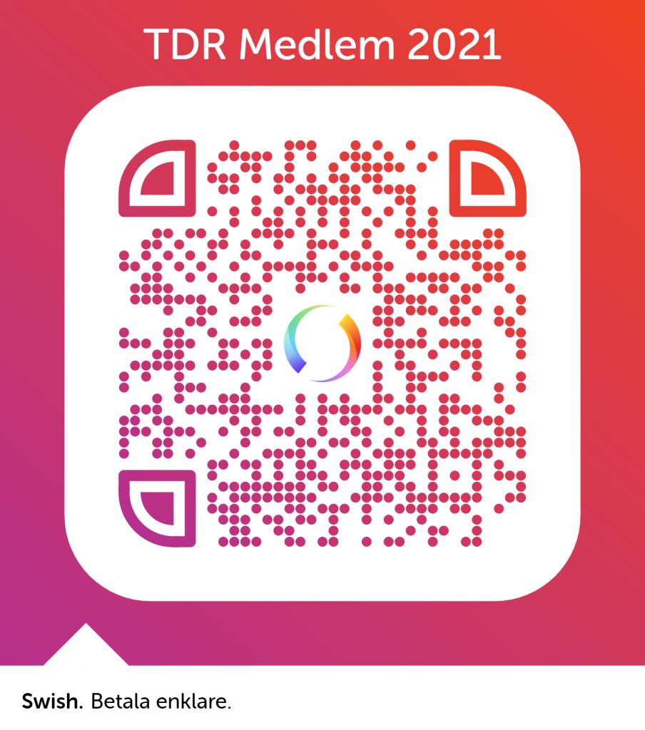 QR-kod för medlemsavgift 2021 via Swish. Bli medlem!